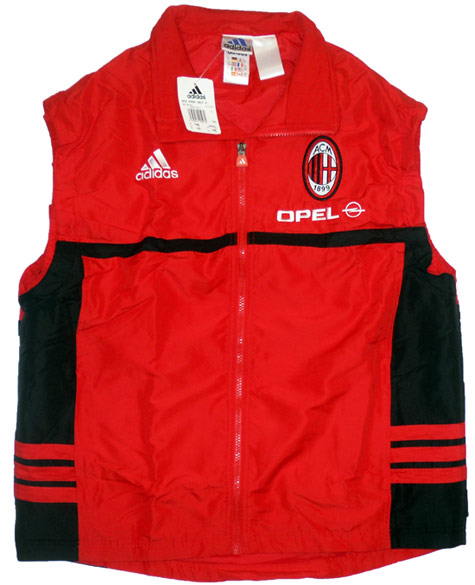 200001 AC Milan Player Issue Padded Training Gilet BNIB L