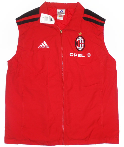 200102 AC Milan Player Issue Padded Training Gilet BNIB L