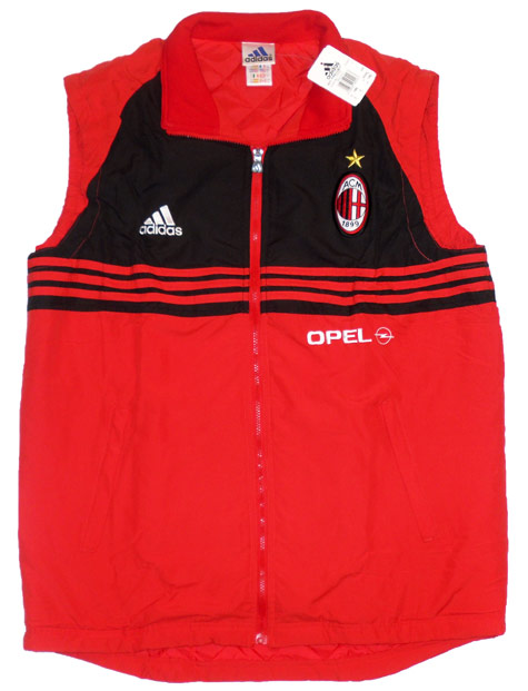 199899 AC Milan Player Issue Padded Training Gilet BNIB L