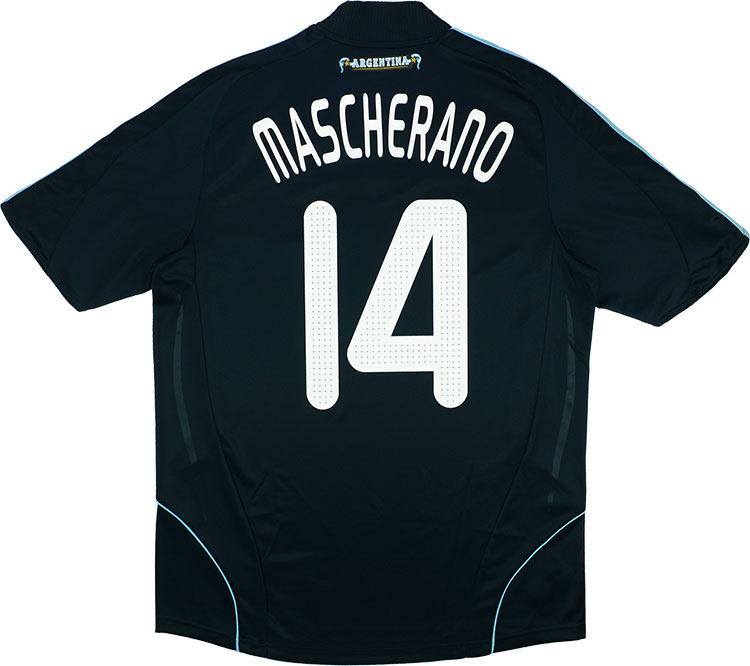 200709 Argentina Away Shirt Mascherano 14 wTags XL