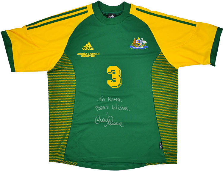 2004 Australia Match Worn Signed Home Shirt 3 (Moore) v Venezuela