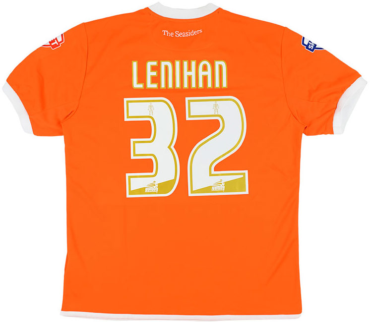 201415 Blackpool Match Issue Home Shirt Lenihan 32