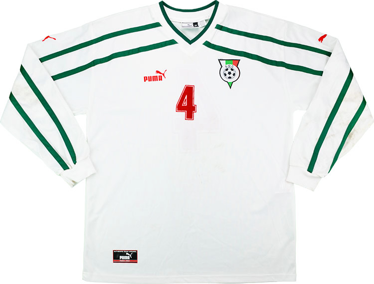 2000 Bulgaria Match Worn Home LS Shirt 4 (Ivanov) v Denmark