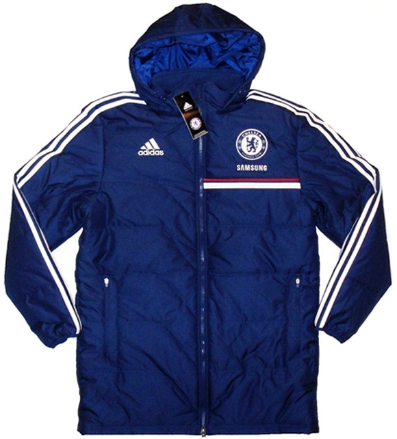 201314 Chelsea Adidas Long Padded Jacket BNIB