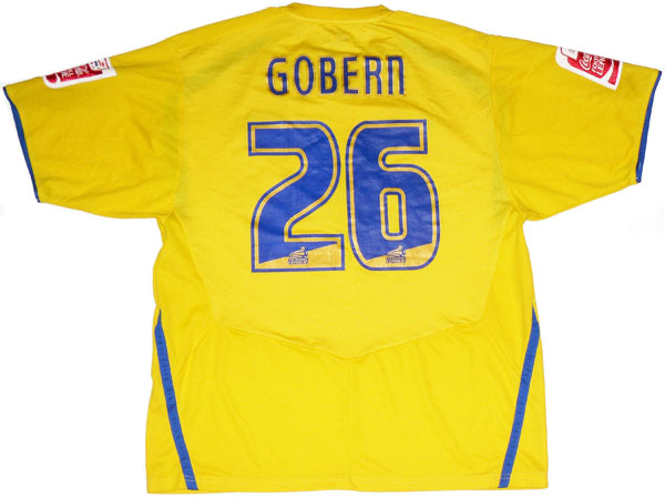 200809 Colchester Match Issue Away Shirt Gobern 26