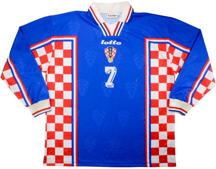 2000 Croatia Match Worn Away LS Shirt 7 (Asanovic) v Germany