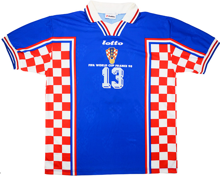 1998 Croatia Match Worn World Cup Away Shirt Stanic 13 (v Holland)
