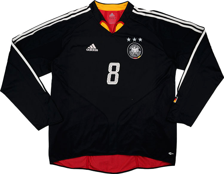 2004 Germany Match Issue Away LS Shirt 8 (Hamann)