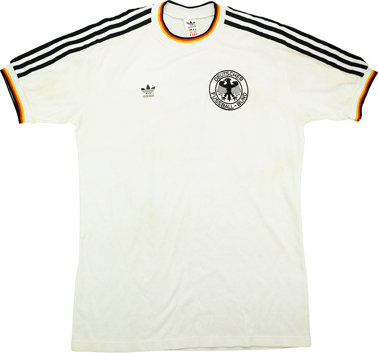 1987 West Germany Match Worn Home Shirt 7 (Littbarski) v Denmark