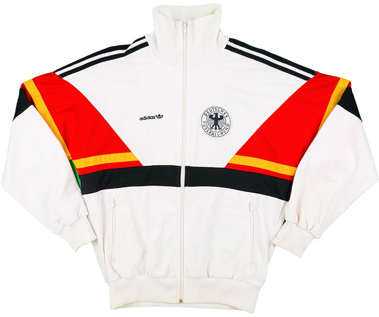 1988-90 West Germany Adidas Track Jacket (Very Good) XL