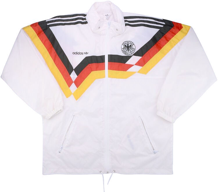 1990 West Germany Adidas Rain Jacket (Good) M