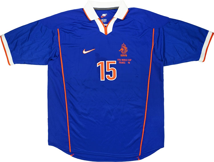 1998 Holland Match Issue World Cup Away Shirt Bogarde 15