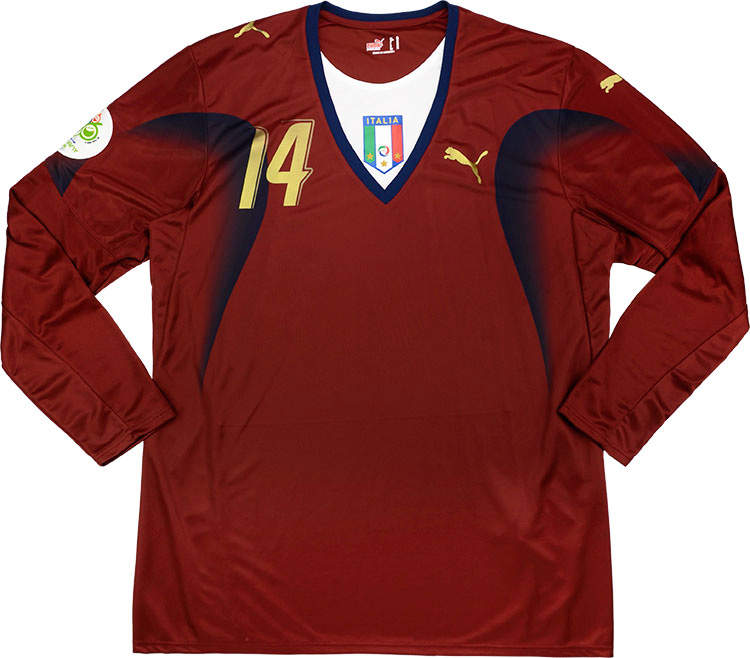 2006 Italy Match Issue World Cup GK Shirt Amelia 14