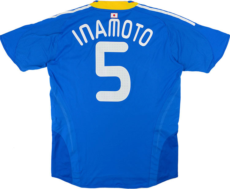 2009 Japan Match Issue Home Shirt Inamoto 5 (v Scotland)