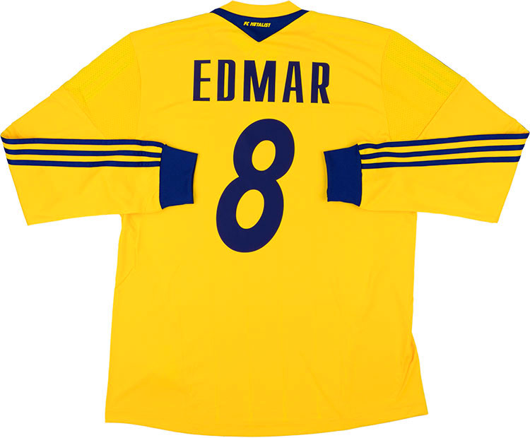 201314 Metalist Kharkiv Player Issue Home LS Shirt Edmar 8 wTags