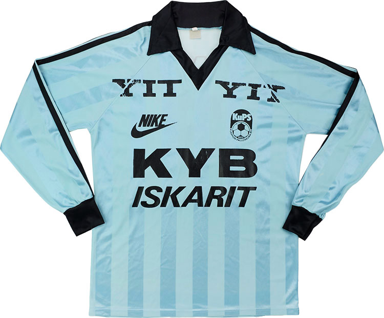 1985 Kuopion Palloseura Match Worn Away LS Shirt 8 (Turunen)