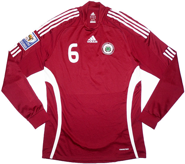 200809 Latvia Match Issue Home LS Shirt 6 (Ivanovs)
