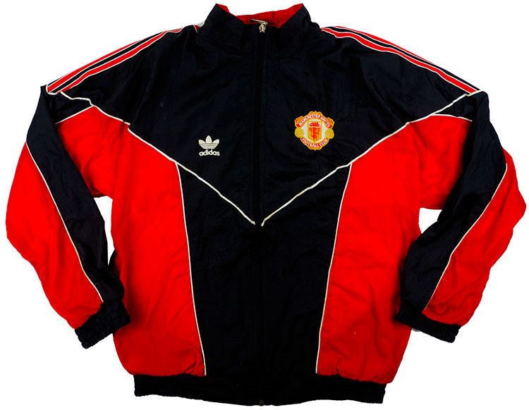 1988-90 Manchester United Adidas Shell Jacket S