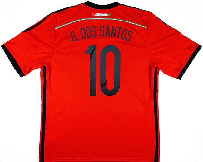 201415 Mexico Away Shirt G. Dos Santos 10 wTags