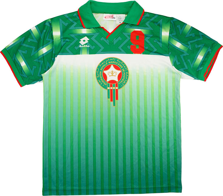 1994 Morocco Match Issue World Cup Away Shirt Chaouch 9 (v Holland)