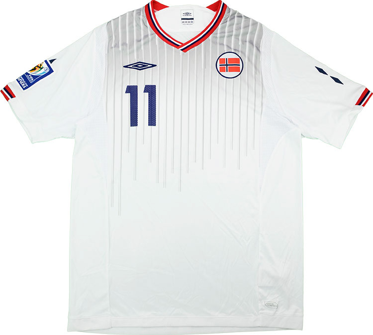 2009 Norway Match Worn Away Shirt 11 (Pedersen) v Holland