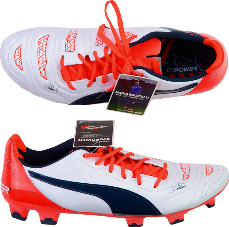 2015 Puma evoPOWER 1.2 Leather Football Boots In Box FG UK 7.5