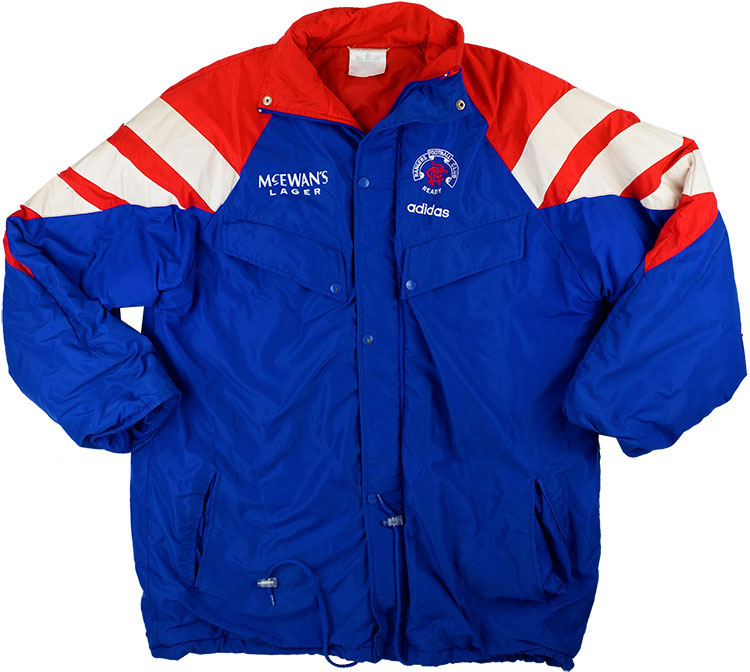 199294 Rangers Adidas Padded Bench Coat (Excellent) M