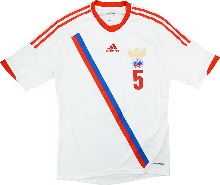 2013 Russia Match Worn Legends Cup Away Shirt Smertin 5 (v Holland)