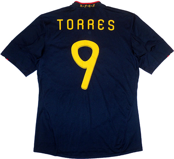 201011 Spain Away Shirt Torres 9 (Good) XL