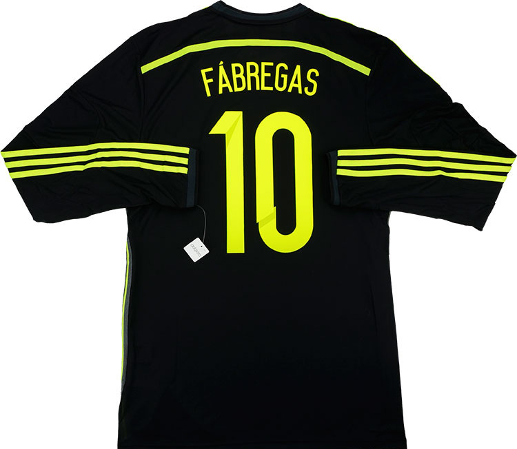 201315 Spain Adizero Player Issue Away LS Shirt Fàbregas 10 wTags L