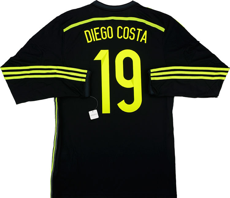 201315 Spain Adizero Player Issue Away LS Shirt Diego Costa 19 wTags