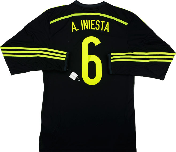 201315 Spain Adizero Player Issue Away LS Shirt A.Iniesta 6 wTags