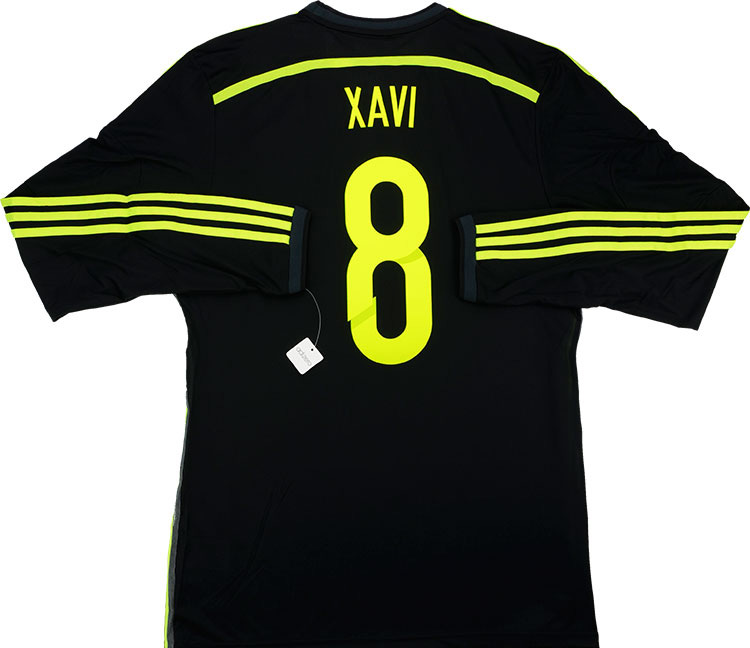 201315 Spain Adizero Player Issue Away LS Shirt Xavi 8 wTags