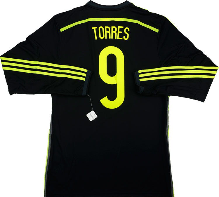 201315 Spain Adizero Player Issue Away LS Shirt Torres 9 wTags