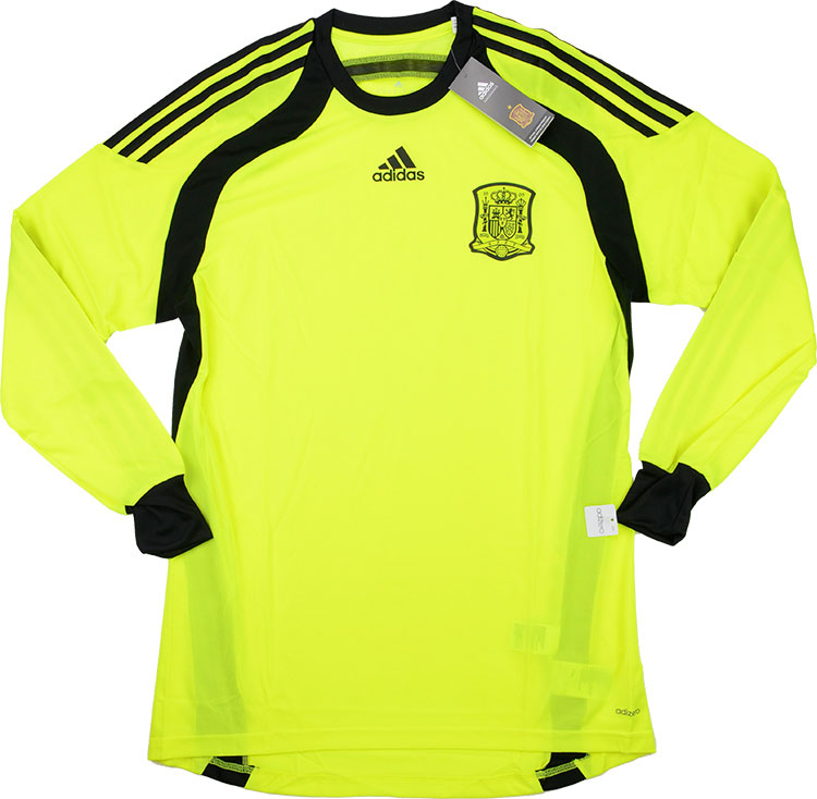 201315 Spain Player Issue Adizero GK Away LS Shirt BNIB