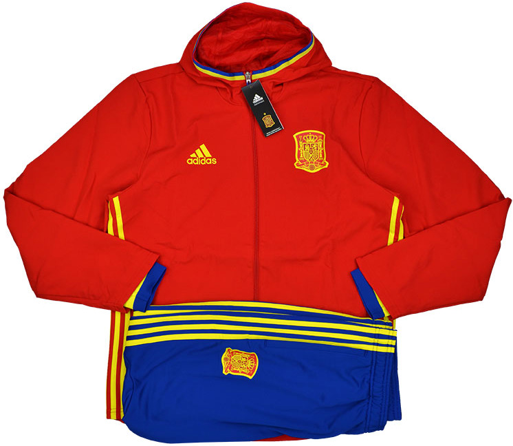 201617 Spain Adidas Hooded Presentation Tracksuit BNIB L