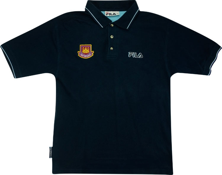 2001-03 West Ham Fila Polo T-shirt (Very Good) M